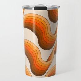 Golden Ribbons Travel Mug