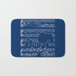 The Moonlight Sonata Blue Bath Mat
