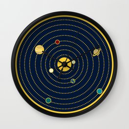 Atomic Solar System Wall Clock