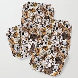Social English Bulldog Coaster