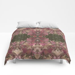 Red Shiso Warm Tones Pattern Comforters