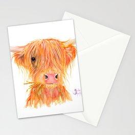 Scottish Highland Cow ' FERGUS ' by Shirley MacArthur Stationery Cards