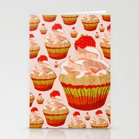 cupcakes Stationery Cards featuring Cupcakes by yourachingart