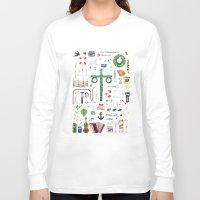swedish Long Sleeve T-shirts featuring swedish midsummer by N Li