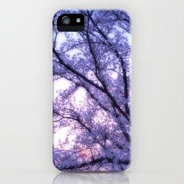 Periwinkle Lavender Flower Tree iPhone Case