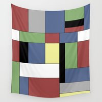 mondrian Wall Tapestries featuring Mondrian #5 by Ron Trickett