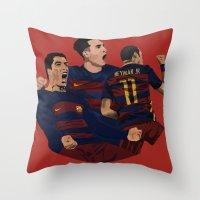 neymar Throw Pillows featuring MSN by siddick49