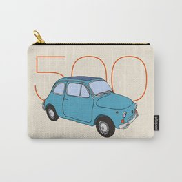 Fiat 500 - Classic Vintage Car Carry-All Pouch