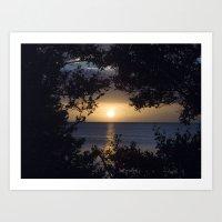 Framed Sunset Art Print