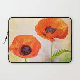Two beautiful poppies with textures Laptop Sleeve