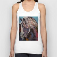 pony Tank Tops featuring Highland Pony by Michael Creese