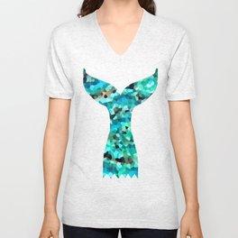 Mermaid Fish Tail Scales Unisex V-Neck