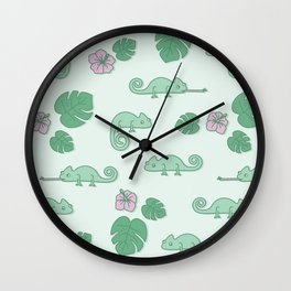 Remi the Chameleon Wall Clock