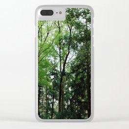 Green Trees Clear iPhone Case