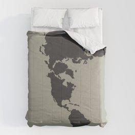 Dymaxion Map - Greys Comforters