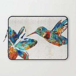 Colorful Hummingbird Art by Sharon Cummings Laptop Sleeve