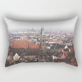 Snow in Nuremberg Rectangular Pillow