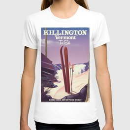 Killington, Vermont to ski T-shirt