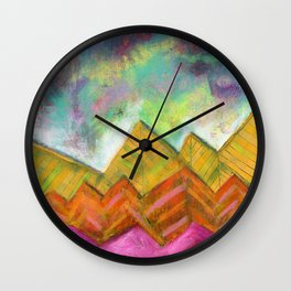 Autumn Mountain Peaks Wall Clock