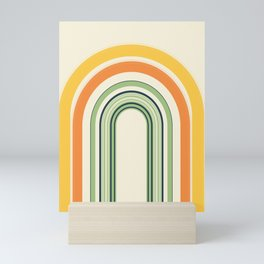 Abstract and Colorful Line Art | Colorful Arches | Yellow, Orange, Green Mini Art Print