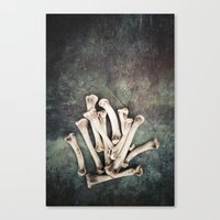bones Canvas Prints featuring Bones by Maria Heyens