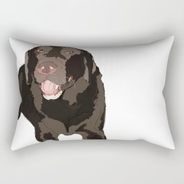 Labrador dog (black) Rectangular Pillow