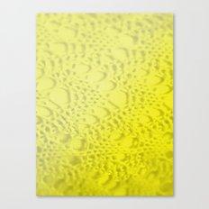 neon yellow ombre cotton crochet Canvas Print