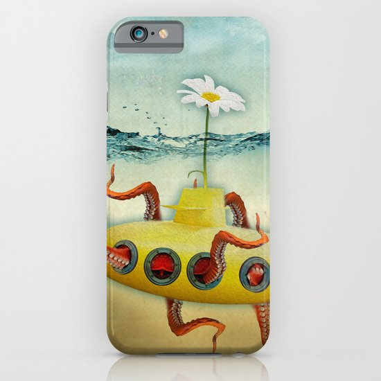 yellow submarine in an octapuses garden iPhone & iPod Case