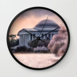 A Cherry Blossom Dawn Wall Clock