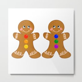 Gingerbread Couple 3 Boy Boy Metal Print