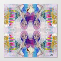 jane davenport Canvas Prints featuring Perfect Little - Kaleidascope version by Jane Davenport by Jane Davenport