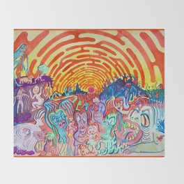 Little Creatures Throw Blanket