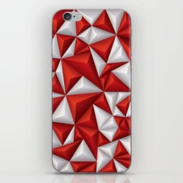 Red and white diamonds pattern iPhone Skin