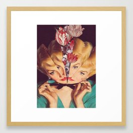 intuition *collage Framed Art Print