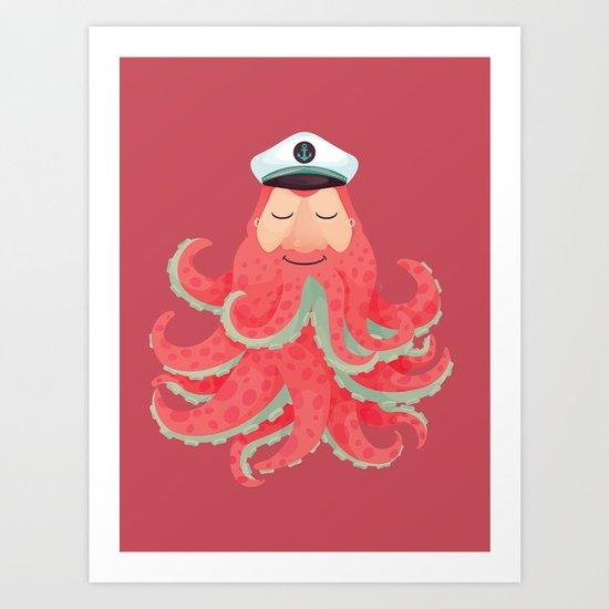 Lord Sailor Cthulhu Art Print