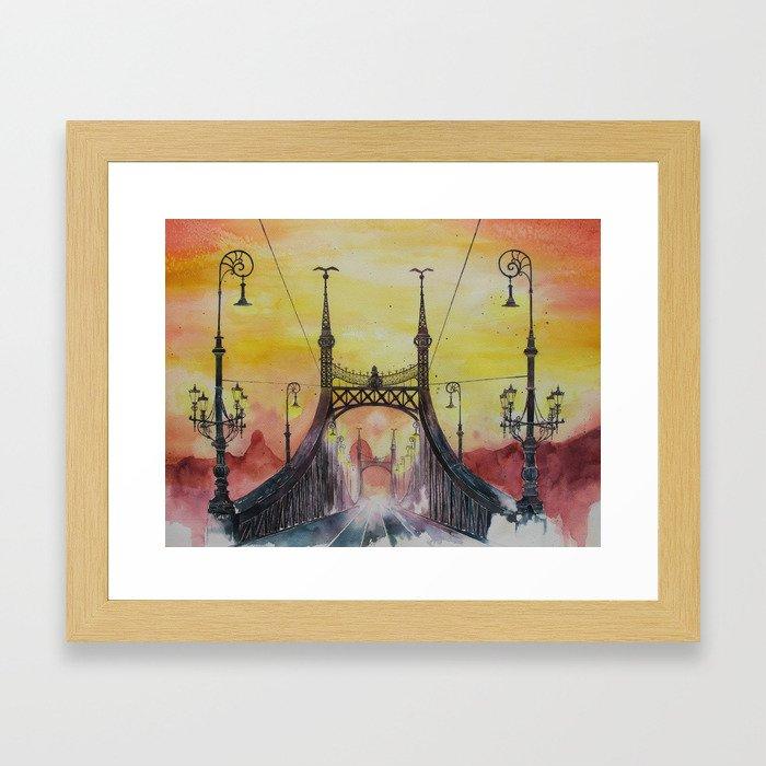 Budapest - Liberty Bridge Framed Art Print