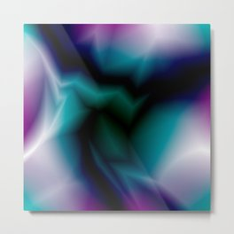 Mystical cosmic sparkling lightning of pink zigzags and yellow spots. Metal Print