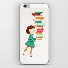 Library Girl 3 iPhone & iPod Skin