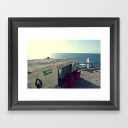 Otman Restaurant with PixelBoy Framed Art Print