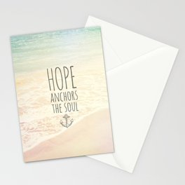 HOPE ANCHORS THE SOUL  Stationery Cards