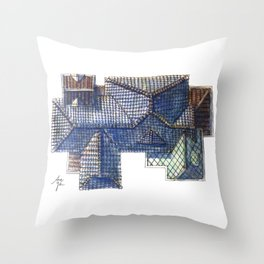 Taiwanese roofscapes 02 Throw Pillow