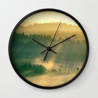 renaissance Wall Clocks featuring Renaissance Morning by artstrata