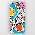 Get Real - memphis abstract pattern retro 80s design minimalist gifts colorful 1980's trend by wacka