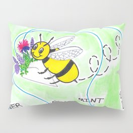 Plant Flowers Bees Like Pillow Sham