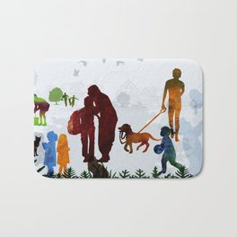 Children and Parents Bath Mat