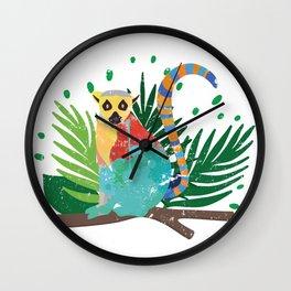Lemur Jungle Nature Wall Clock
