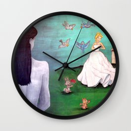 Real Life is Not a Fairy Tale Wall Clock