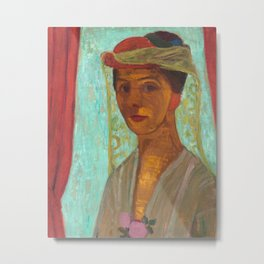 Paula Modersohn-Becker Self Portrait Painting Metal Print