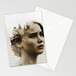 gale says i never smile except in the woods Stationery Cards