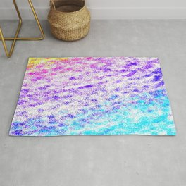 Totally Awesome 80s Colorful Ombre Rug